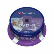 DVD+R 4,7GB VERBATIM 16X CAKE 25SZT  43500-CAKE 25/VD1625+