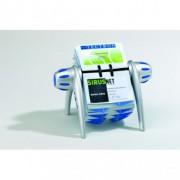 KARTOTEKA OBROTOWA VISIFIX FLIP NA WIZYTÓWKI Z PRZEKŁADKAMI SREBRNA DURABLE 2417/23