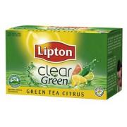 HERBATA LIPTON CLEAR GREEN TEA CITRUS 20T*