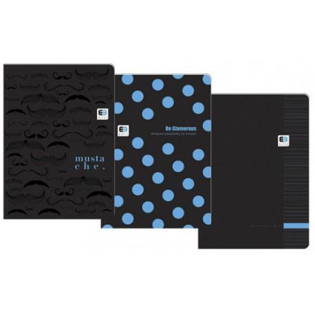 BRULION A5/80K KR OPRAWA PÓŁTWARDA BLACK&BLUE INTERDRUK  BRA580-BB/5902277211484