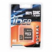 KARTA PAMIĘCI PLATINET MICRO SDHC + ADAPTER SD 16GB