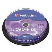 DVD/R 8,5GB VERBATIM 8X CAKE 10 DOUBLE LAYER ***43666VDDL810/*