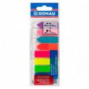 Zakładki indeksujące DONAU PP 12x45mm/12x42mm, stand./strzałka, 4x25/4x25 kart. mix kolorów
