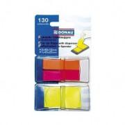 Zakładki indeksujące DONAU PP 12x40mm/25x45mm, 2x40/1x50 kart. mix kolorów