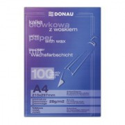 Kalka ołówkowa DONAU z woskiem, A4, 100szt., fioletowa
