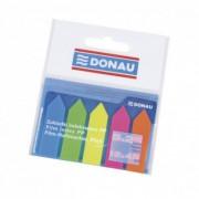 Zakładki indeksujące DONAU PP 12x45mm strzałka 5x25 kart. mix kolorów