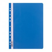 Skoroszyt A4 PP  z perf. D.Rect niebieski 009012