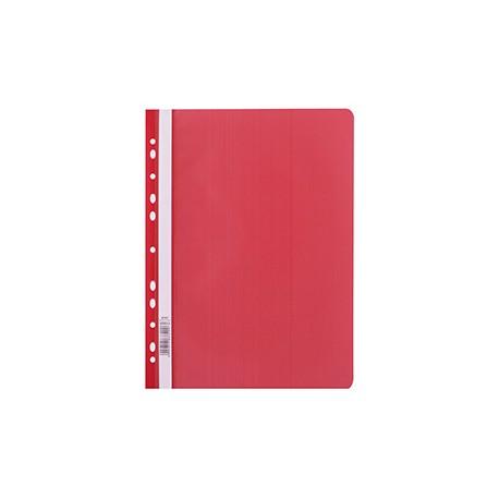 Skoroszyt A4 PP  z perf. D.Rect czerwony 009013