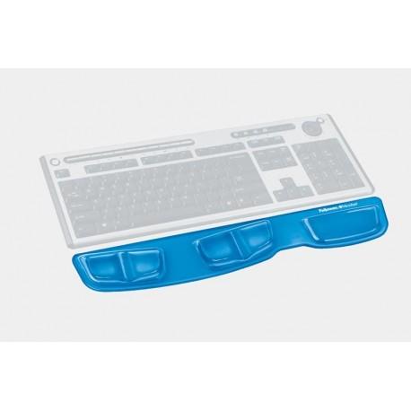 Podkładka przed klawiaturę Health-V Crystal - niebieska