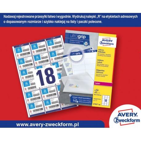Etykiety samoprzylepne Awery Zweckform L7161-100