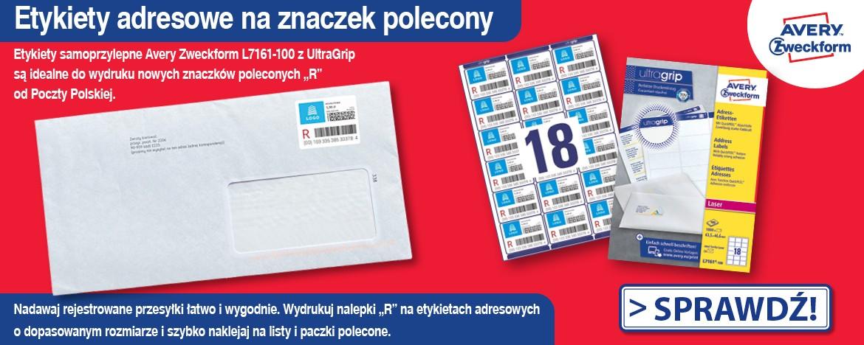 etykiety znaczek poczta polska